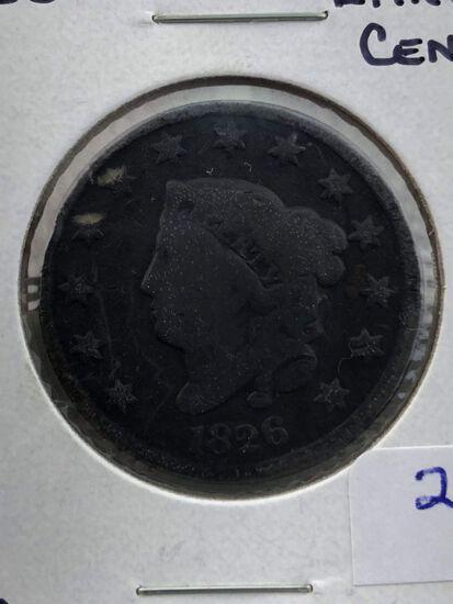 1826 Large Cent F12