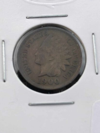 1900 Indian cent EF