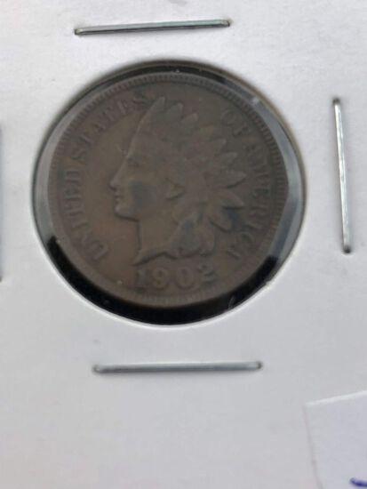 1902 Indian cent EF
