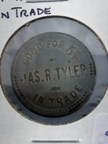 Jas. R. Tyler 5 cent Trade Token