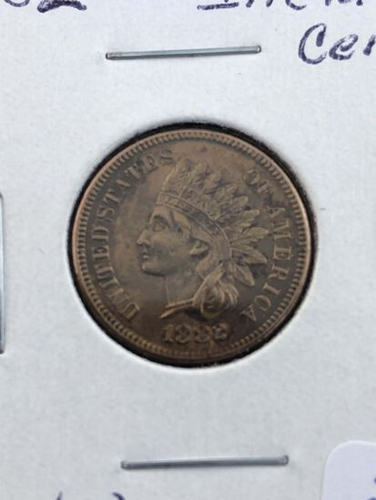1882 Indian cent MS60