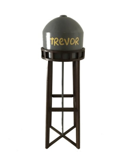 The Simpsons Inspired Water Tower From Trevor Johnson's Birthday Party