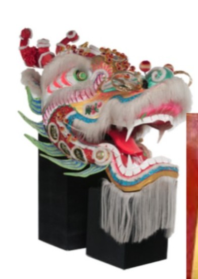 Oversized Dragon Head From World's Longest Chinese Dancing Dragon