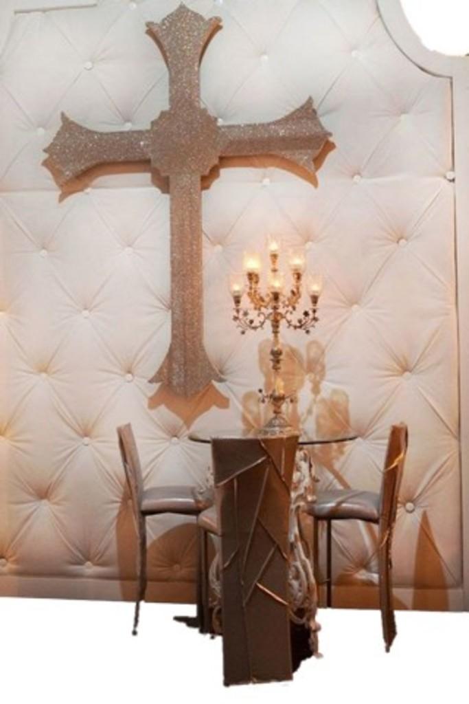 Oversized Swarovski Crystal Cross From Kim Kardashian Wedding