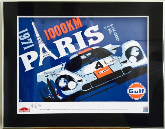"""1971 1000kms Paris"" - Signed Derek Bell and Gijs Van Lennep"