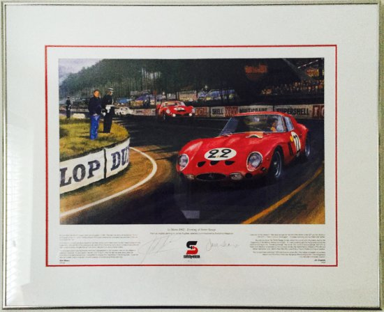 """LeMans 1962 - Evening at Tetre Rouge"" Signed John Surtees, CBE and Jack Sears"