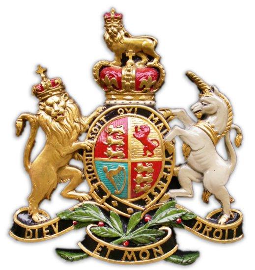 'Royal Endorsement Coat of Arms'. Sign
