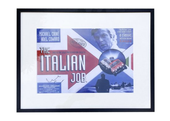 The Italian Job poster signed by Sir Michael Caine*
