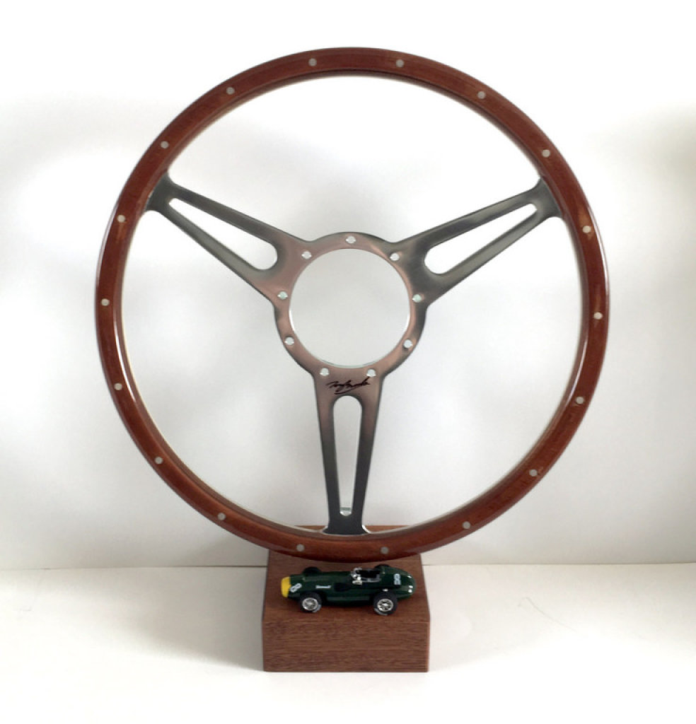 Steering Wheel, signed Sir Stirling Moss OBE  Tony Brooks