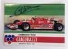 1981 signed Gilles Villeneuve Giacobazzi postcard