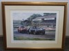 Print signed by Sir Stirling Moss and Rob Walker.