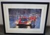 Framed print of 1970 Le Mans winning Porsche .