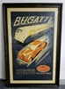 Original 1935 Bugatti advertising poster.