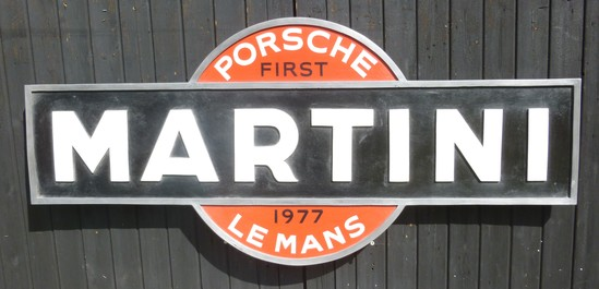Fibreglass Martini Porsche badge