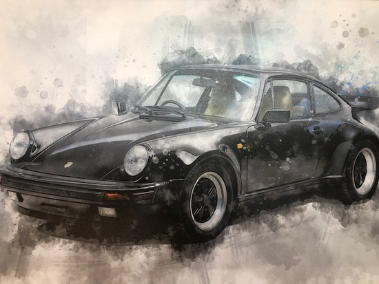 Stretch-canvas print of the iconic 911