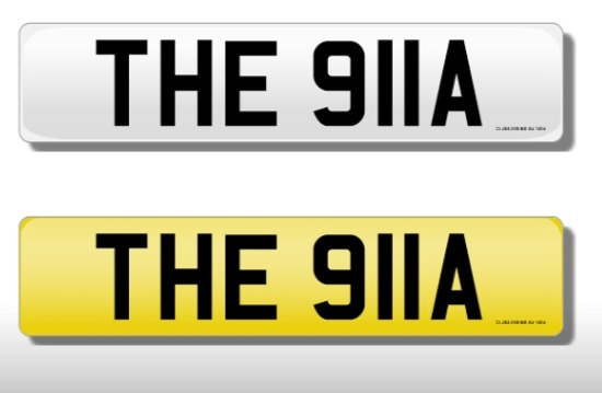 Registration Number 'THE 911A'