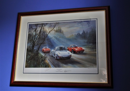 """Porsche Pedigree "" lithograph."