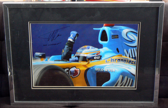 World Champion, signed Fernando Alonso