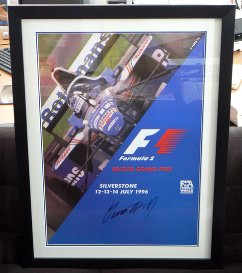 Original poster 1996 British Grand Prix