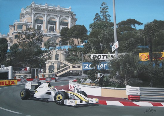 Jenson Button. Artist Signed Limited Edition Print