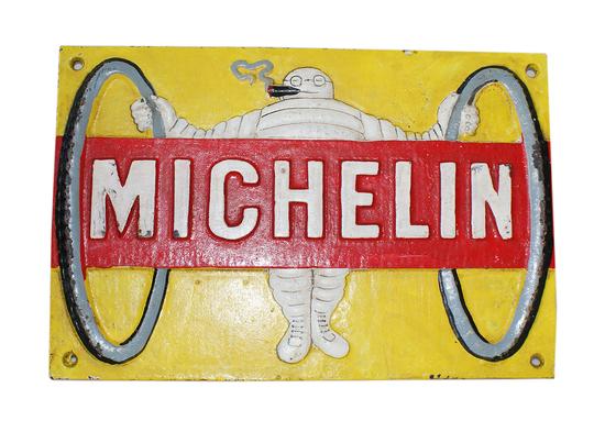 Michelin Man' Yellow Plaque