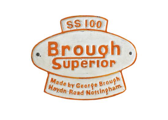 Brough Superior SS100 '  Plaque.