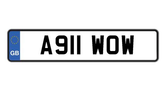 Reg plate A911WOW.
