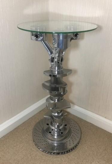 Crankshaft side table.
