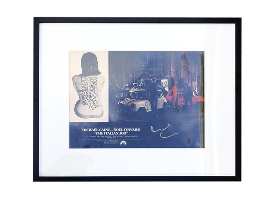 The Italian Job signed by Sir Michael Caine