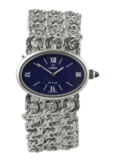 1970's Omega Jeux D'Argent Silver Bracelet Watch.