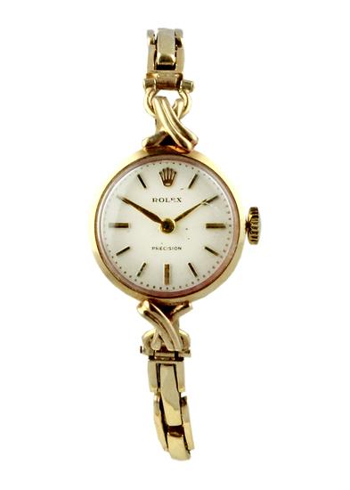 1960's Rolex Lady's 9ct Gold bracelet Watch.