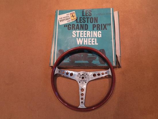 Unused Les Leston steering wheel