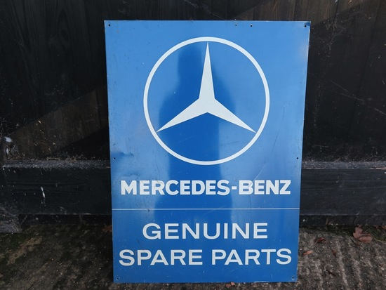Original Mercedes-Benz Spare Parts sign