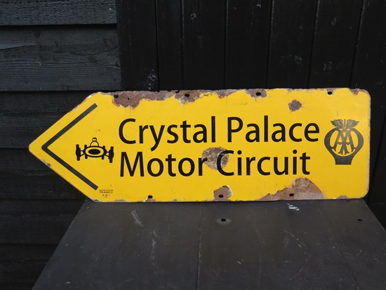 AA 'CRYSTAL PALACE' enamel sign