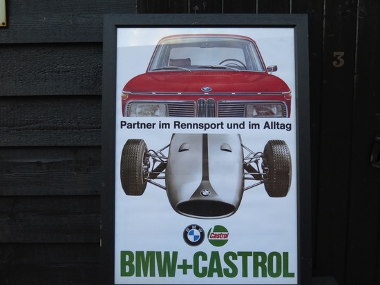 BMW and CASTROL poster'