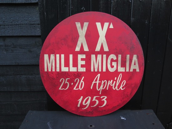 MILLE MIGLIA 1953 wooden sign