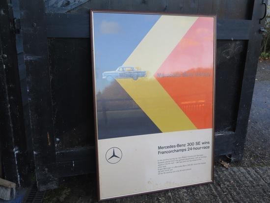 Mercedes-Benz 300SE Francorchamps poster