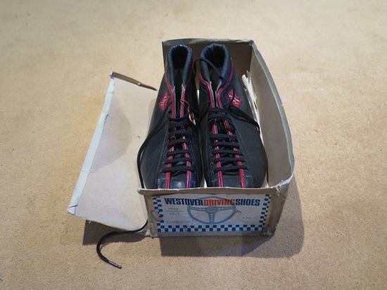 Rare, unused period race boots.