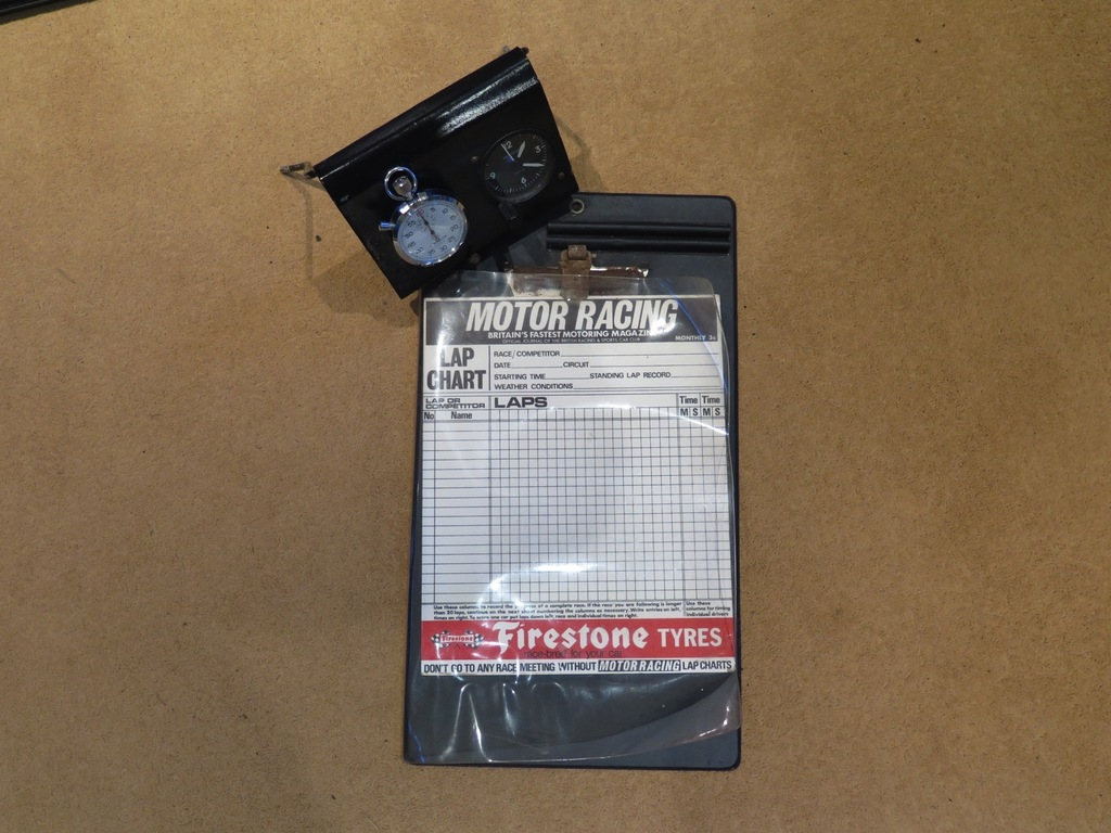 Period clip board and stop watches