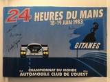 Multi-signed 1983 Le Mans poster.