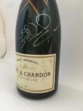 Champagne presentation bottle, signed Nigel Mansell CBE