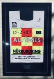 Framed and signed F1 tabard - 2001 Grand Prix of Europe