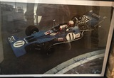 Signed 'Tyrrell at Monaco' period poster.