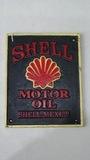 'Shell Motor Oil' wall plaque.
