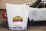 Porsche 911 Rally Car. Waldegard signed bonnet