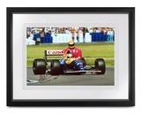 'Taxi for Senna', signed Nigel Mansell CBE