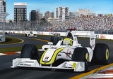 Jenson Button. Artist Signed Limited Edition