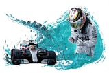Lewis Hamilton. Artist Signed Limited Edition