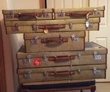 Bespoke Rolls-Royce six-piece luggage set