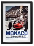 1965 Monaco poster by Michael Turner.